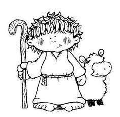 ESPAÇO EDUCAR: Modelos e moldes de presépio para recortar e montar! O pastor de ovelhas foi avisado sobre o salvador Jesus..