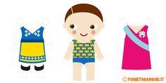 Bambole di carta da stampare, ritagliare e vestire