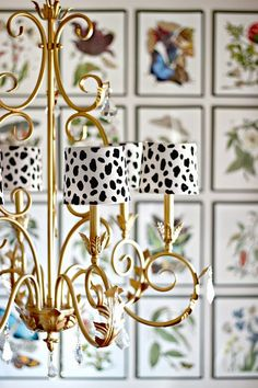 Dimples and Tangles: DIY SPOTTED CHANDELIER SHADES