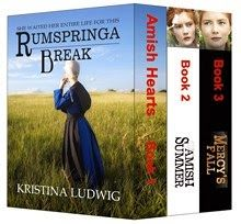 Amish Hearts Boxed Set: Books 1-3  by Kristina Ludwig  #AmishHearts  Book 1: Rumspringa Break Book 2: Amish SummerBook  Book 3: Mercy's Fall   http://www.faithfulreads.com/2014/01/thursdays-christian-kindle-books-early_30.html