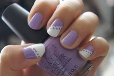 Love this!! #purple #nails #lace #pretty #white #fashion #photography #style #design #love