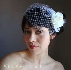 Mini Cap birdcage veil Easy fit Fitted French Russian netting sale Ships 1-3 days ship ready
