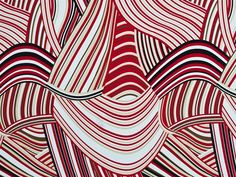 Red print fabric | Red Abstract Jersey Print Fabric