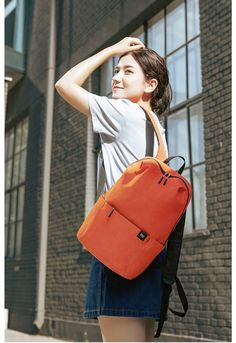 XIAOMI Backpack Mini Bag 8 Colors for Women Men Boy Girl Daypack Waterproof Lightweight Portable Chest Sling Bags for Travel - Negamy Mini Backpack, Mini Bag, Leather Backpack, Fashion Backpack, Shoulder Strap, Sling Bags, Backpacks, Crossbody Bags, Colors