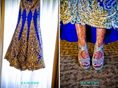 love the blue and the embellishment on the lengha