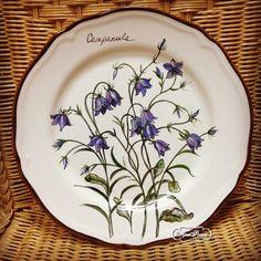 """Тарелка """" Колокольчики .Серия полевые цветы."""" , 28 см"""