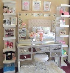 makeup bedroom ideas alluring makeup room ideas best ideas about Vanity Room Ideas Elegant Vanity Room Ideas Ideas Vanity Room, Vanity Decor, Diy Vanity, Vanity Ideas, Vanity Mirrors, Mirror Ideas, Vanity Shelves, Vanity Tables, Vanity Drawers