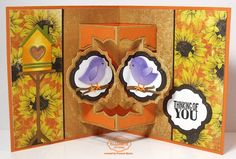 Frances Byrne using the Pop it Ups Anita Frames Pop-up die by Karen Burniston for Elizabeth Craft Designs. - StampOwl's Studio: Thinking of You