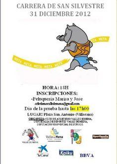 31/12 Villasana de Mena. #Merindades   Comienzo a las 18:00h  Inscripciones: Peluquería Marisa y Jose hasta el 31/12, y el mismo día de la prueba a partir de las 17:00 h