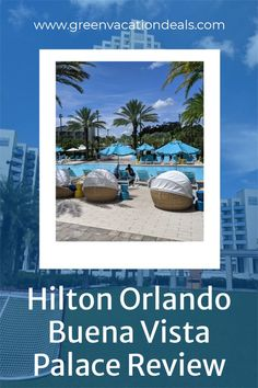 Our family loved staying at Hilton Orlando Lake Buena Vista Palace Disney Springs area. It's so close to Disney Springs, and we love shopping & eating lunch and/or dinner there. Plus, it's close to the Disney World parks! In our hotel review, we share reasons why we love this resort hotel. Get an idea of the great pool complex, fun things to do at the hotel & more. You can also see a video tour of the hotel we made during our trip. Disney vacation ideas. Florida travel advice. #DisneyWorld Disney World Tickets, Disney Rides, Disney World Parks, Disney World Planning, Walt Disney World Vacations, Dream Vacations, Disney Resorts, Hotels And Resorts, Disney World With Toddlers