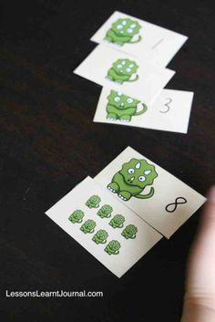 A fun math game to develop early numeral identification