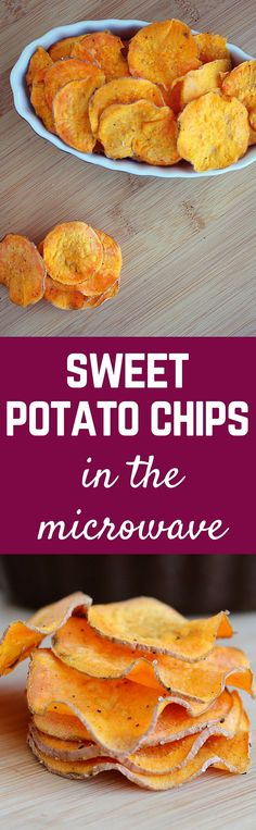 Sweet potatoes can be transformed into a crispy and delicious sweet potato chip in a mere 5 minutes in the microwave!