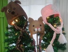 Pink Elsa, kitty cats and puppies have arrived to keep your head warm and cute! Local, hand crocheted hats by Susanne.
