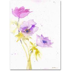 Trademark Fine Art Trio Canvas Art by Sheila Golden, Size: 35 x 47, Multicolor