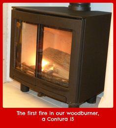 My beautiful Contura i5 woodburner stove. LOVE IT!