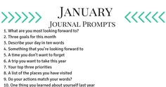 January Journal Prom