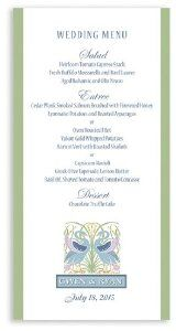 265 Wedding Menu Cards - Swan Garden by WeddingPaperMasters.com. $164.30. Now you can have it all! We have created, at incredible prices & outstanding quality, more than 300 gorgeous collections consisting of over 6000 beautiful pieces that are perfectly coordinated together to capture your vision without compromise. No more mixing and matching or having to compromise your look. We can provide you with one piece or an entire collection in a one stop shopping experience with in...