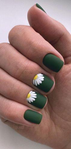 Summer Gel Nails, Cute Gel Nails, Toe Nails, Beach Nails, Cute Spring Nails, Spring Nail Art, Matte Green Nails, Green Nail Art, Green Nail Designs