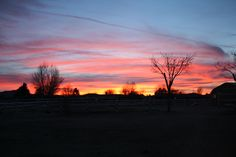 An Antelope Valley sunset
