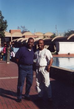 Early 90's: Eric and his Dad Roger William Bailey at ML King Center in Atlanta, Georgia. His mother Jean Bailey is taking the picture. Roger has been deceased for several years. He was a military veteran (US Navy) and retired Senior Chief Petty Officer and Boy Scout Cub Master in Dayton and Xenia, Ohio.