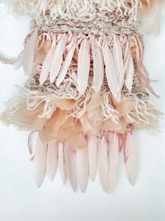 Feather Weaving Emma Cassi peach pink bohemian