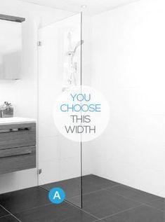 Frameless Glass Single Fixed Panel Shower Screen Package – Infinity Glass Glass Shower Panels, Bathroom Shower Panels, Black Shower Curtains, Master Bath Shower, Frameless Shower, Shower Screens, Bath Screens, Bathroom Showers, Master Bathroom