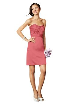 Brides: Coral Bridesmaid Dresses