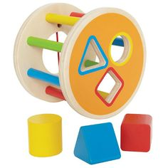 This beautifully crafted colourful shape sorter will delight any toddler. 	Stimulate sensory awareness while developing your toddler's hand-eye coordination.