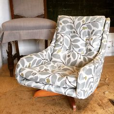 Child's armchair with new upholstery in Warwick Fabrics Kids Armchair, Warwick Fabrics, Chair Upholstery, Retro Home, Ant, Accent Chairs, House Plans, Furniture, Home Decor