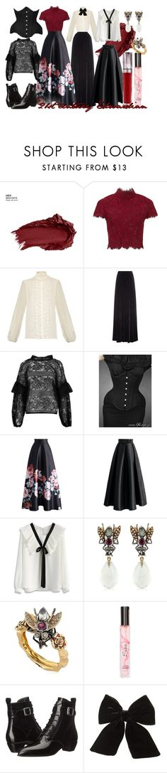 """21st century Edwardian"" by fyrhp ❤ liked on Polyvore featuring Urban Decay, Dolce&Gabbana, Etro, Boohoo, Chicwish, Sylvie Corbelin, Marc by Marc Jacobs, Topshop and modern"
