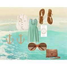 I need to find that dress.   beach side, created by sophiemcentee on Polyvore
