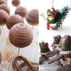 The Crafter's Foam Holiday Ornaments, Holiday Decor, Beavers, Balls, Polymer Clay, Place Cards, Place Card Holders, Crafts, Design