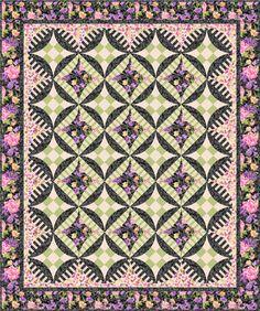 "Veranda quilt using Patrick Lose's ""Katherine Ann"" fabric collection.  Pattern & templates at gatewayquiltsnstuff.com"
