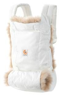 Ergo Winter Edition - white, lined in sheepskin and built in muff. Love at first sight