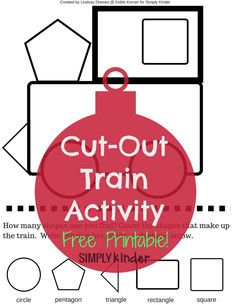 cut out train activity with free printable - polar express ideas Train Crafts Preschool, Preschool Christmas, Classroom Crafts, Preschool Activities, Movement Preschool, Preschool Plans, Preschool Winter, Christmas Poems, Classroom Freebies