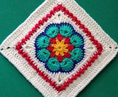 Crochet Square Patterns, Crochet Blocks, Block Patterns, Crochet Squares, Crochet Granny, Granny Squares, Crochet Motif, Pattern Blocks, 31 Days