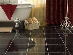 Polished Granite Black Galaxy Bevel Edge | Topps Tiles