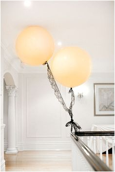 Black lace - big balloon - so chic {via: This Is Glamorous}