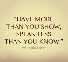 shakespeare quotes | Shakespeare Quote from King Lear | Content in a Cottage