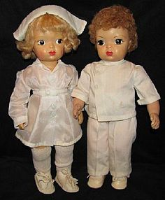 When I was 10, I had a Terri Lee. These are so cute: a nurse and a doc!