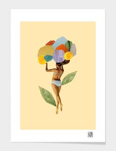 """""""I Walk Out in the Flowers and Feel Better"""" - Numbered Art Print by laura redburn on Curioos"""