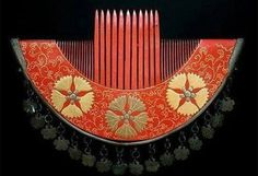 Red Lacquered Comb from Japan