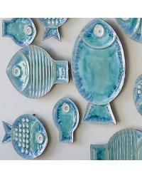Blue Fish Plate Collage