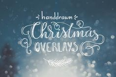Handdrawn Christmas Photo Overlays - Illustrations
