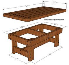 Coffee Table - Upside Down - Rustic wood furniture - Wood Coffee Table Wooden Pallet Furniture, Diy Outdoor Furniture, Furniture Projects, Furniture Plans, Diy Furniture, Easy Woodworking Projects, Woodworking Furniture, Woodworking Plans, Woodworking Techniques