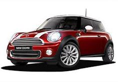 Mini Cooper . . . love the maroon color!