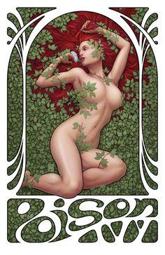 Fan-Art Nouveau Poison Ivy by John Tyler Christopher