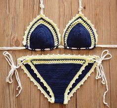 Handmade Crochet Bikini Swimsuit by FashionCrochetAU on Etsy