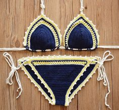 Handmade Crochet Bikini Swimsuit by FashionCrochetAU on Etsy