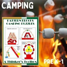 Math Camping Puzzles by A Thinkers Toolbox Hard Puzzles, Challenging Puzzles, Math Patterns, Love Teacher, Dome Tent, Teacher Notebook, Activity Centers, Tool Box, Encouragement